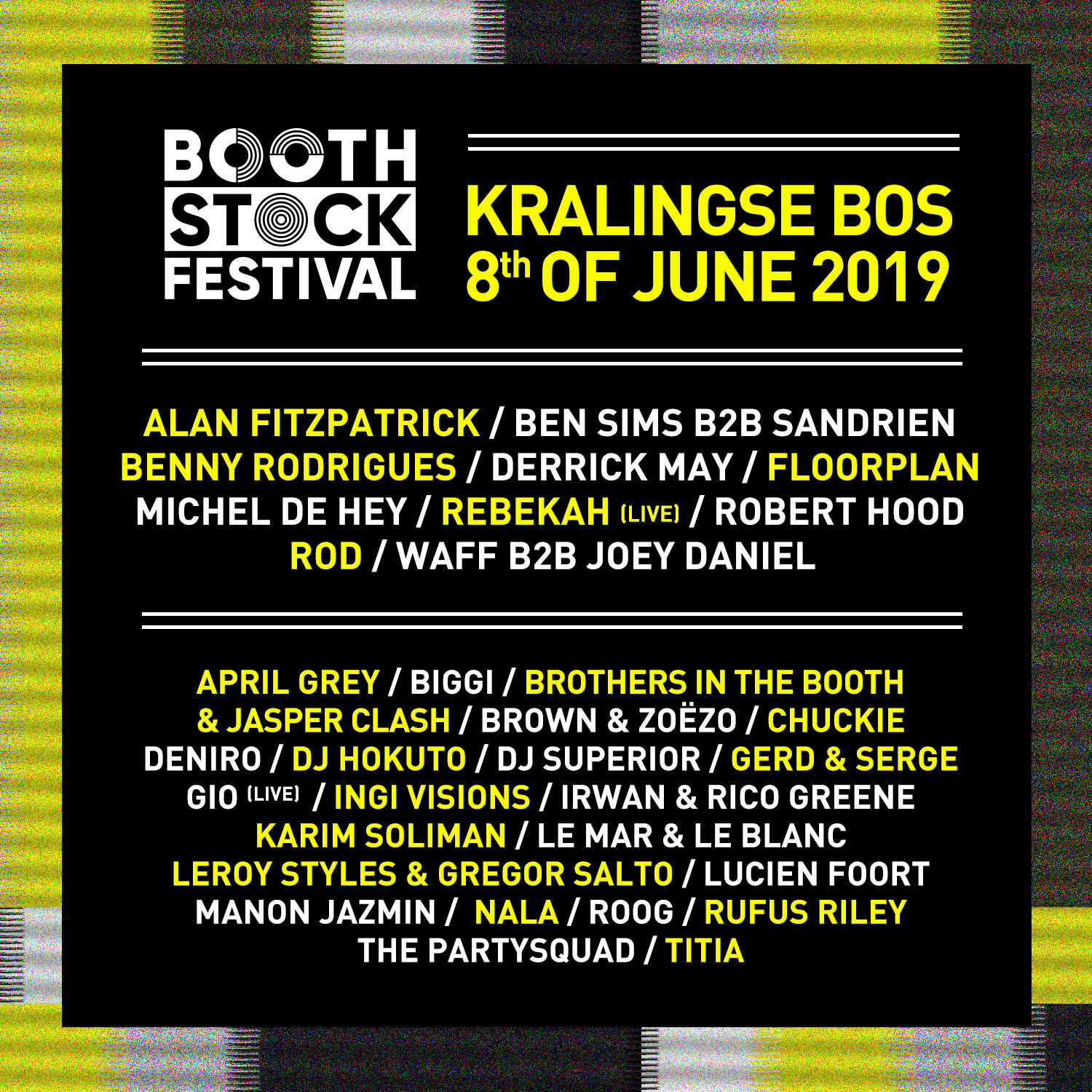 BOOTHSTOCK LINE UP